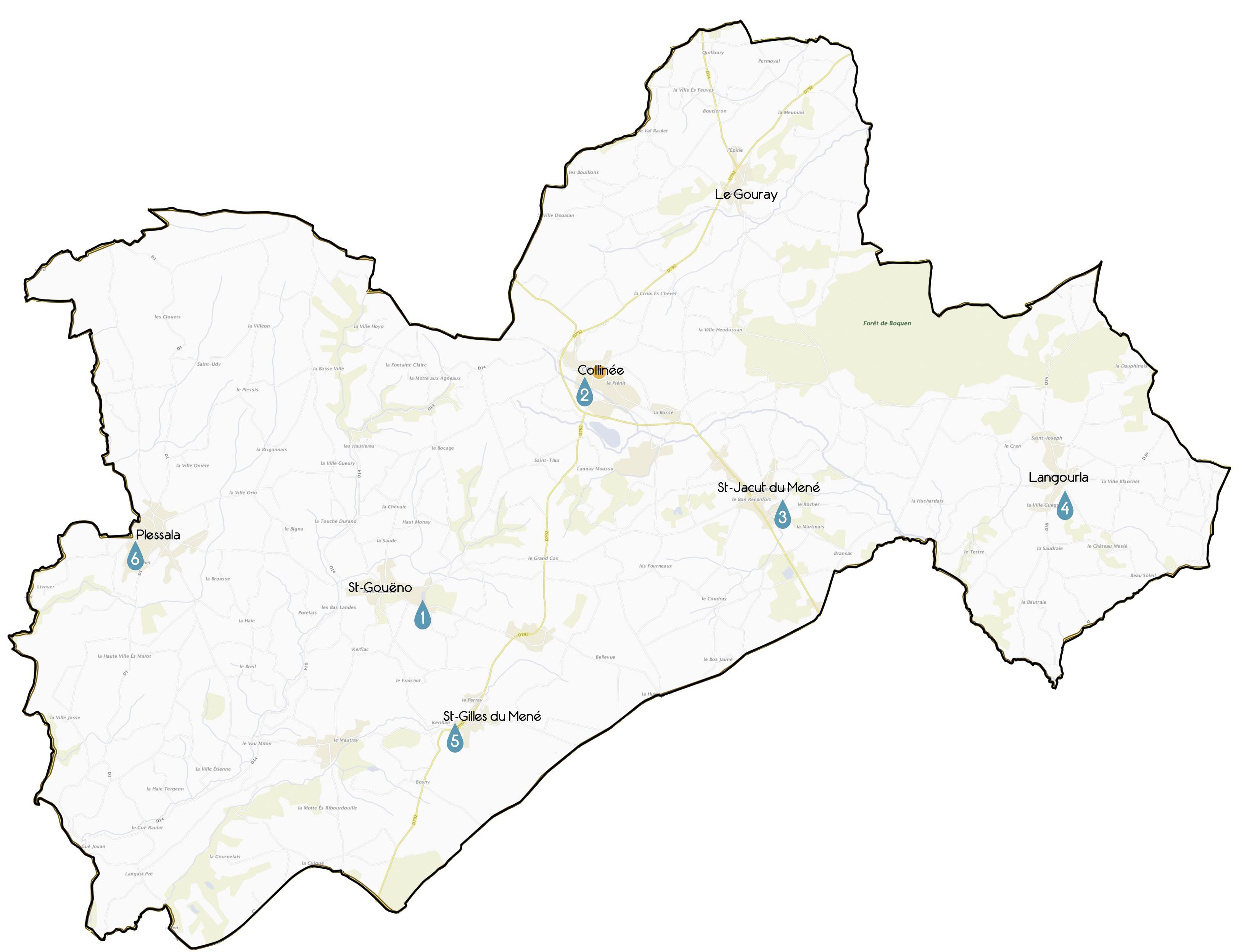 Carte plans d'eau