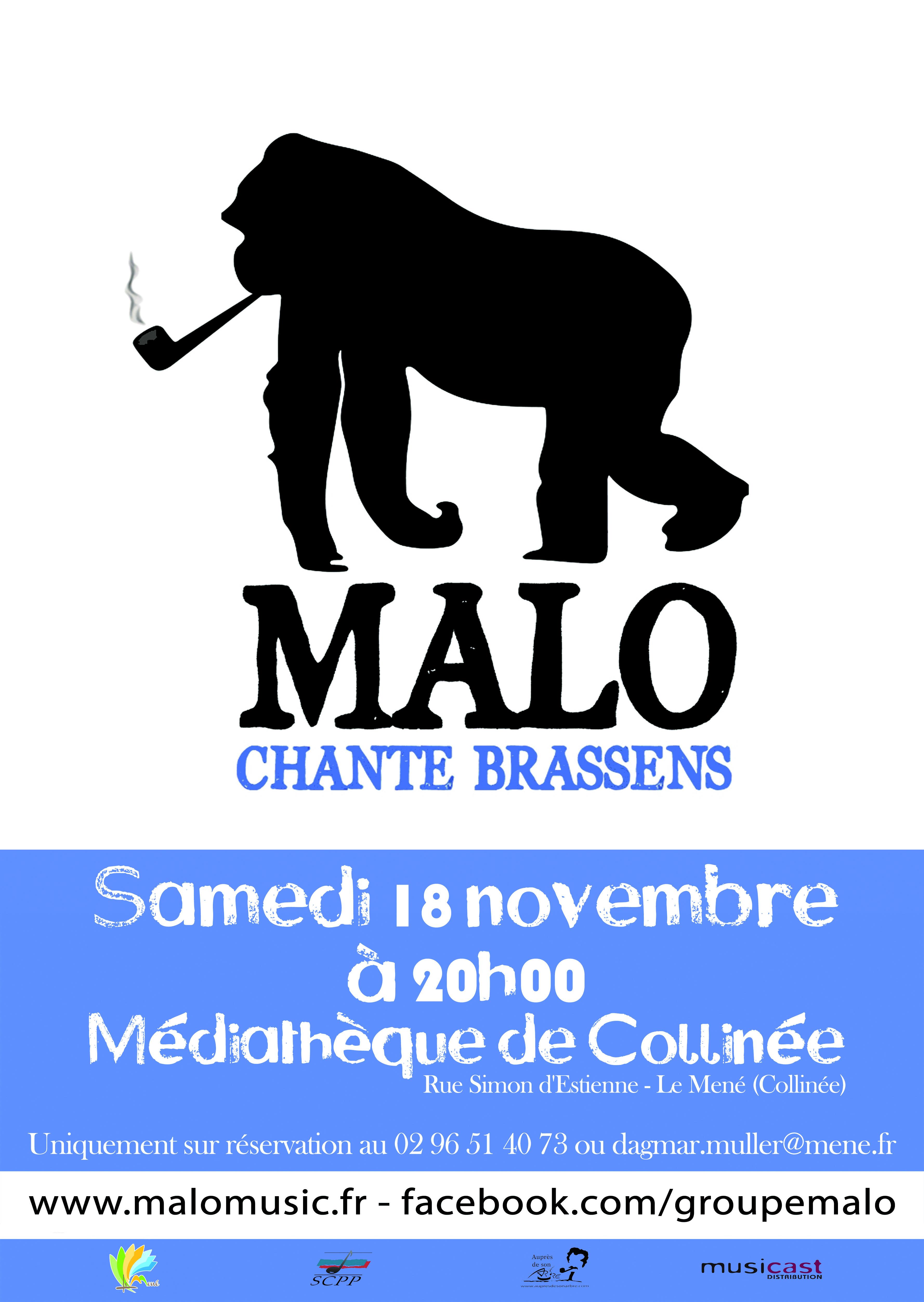 Affiche Malo chante Brassens copie
