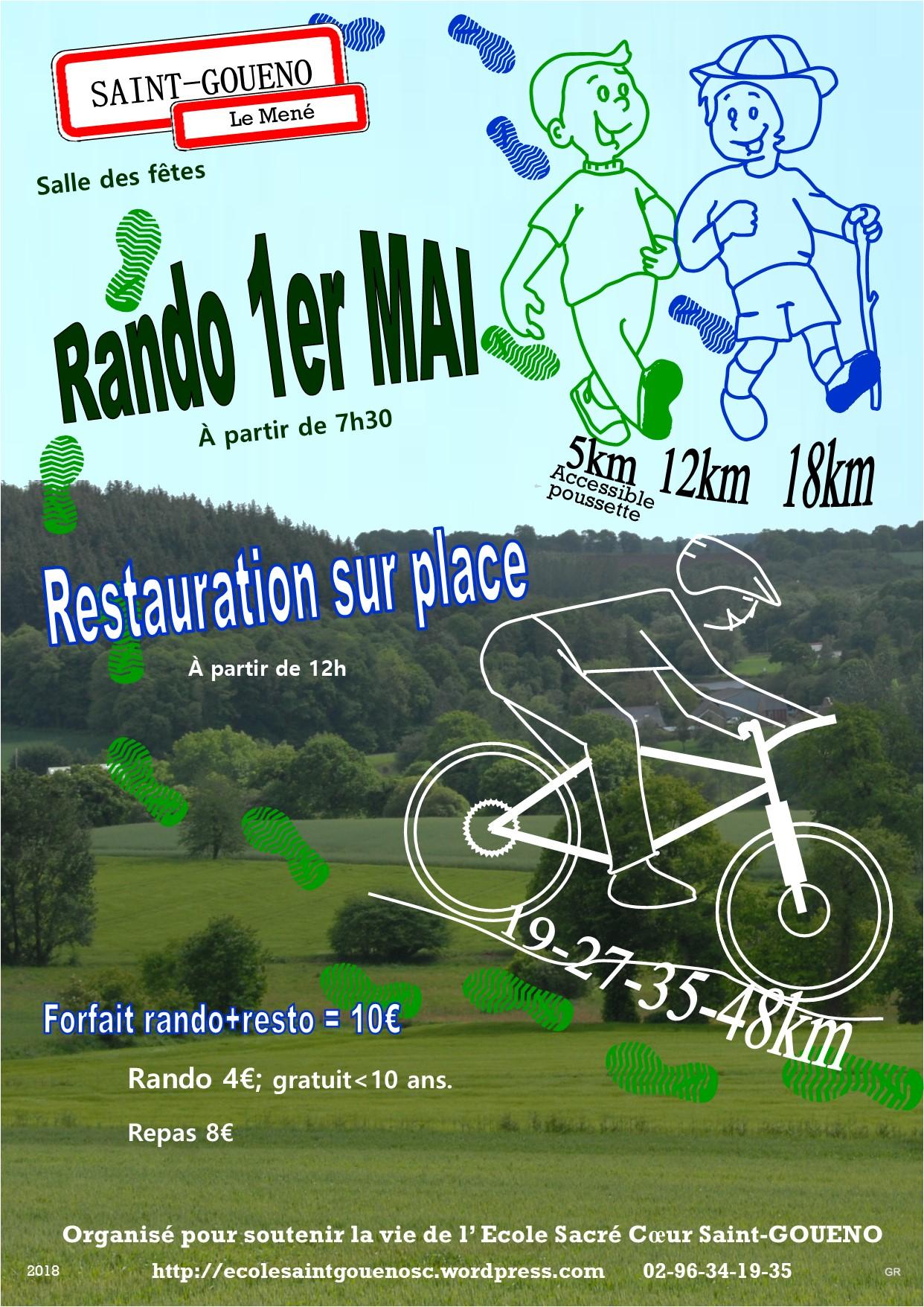 rando 1er Mai Saint Goueno 2018