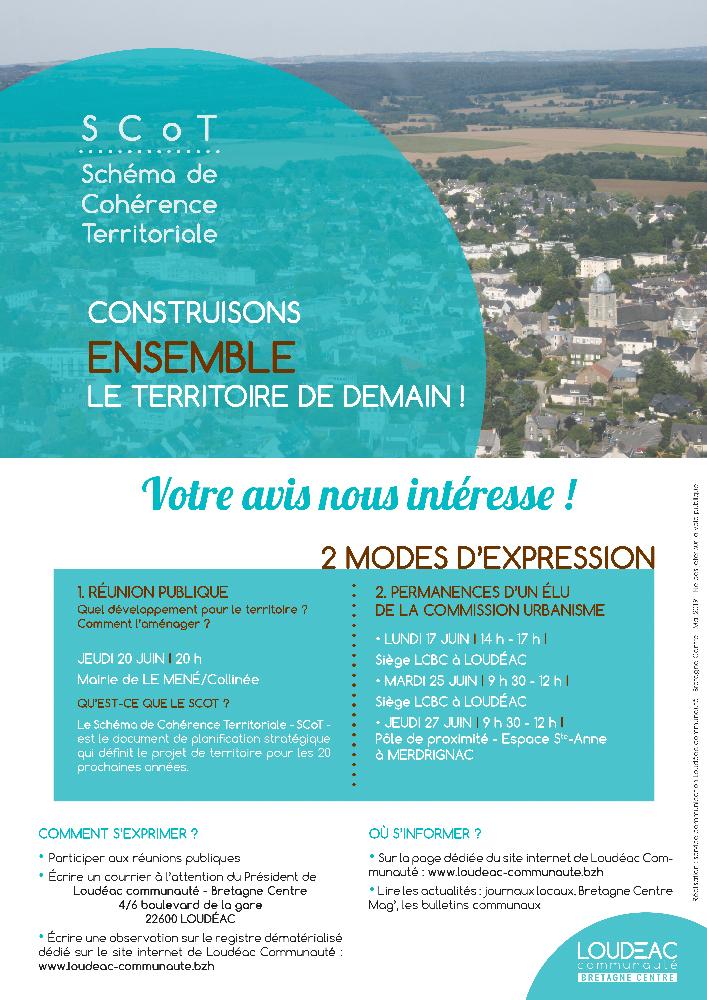 «CONSTRUISONS ENSEMBLE LE TERRITOIRE DE DEMAIN !» – Réunion publique le 17 juin à 20h