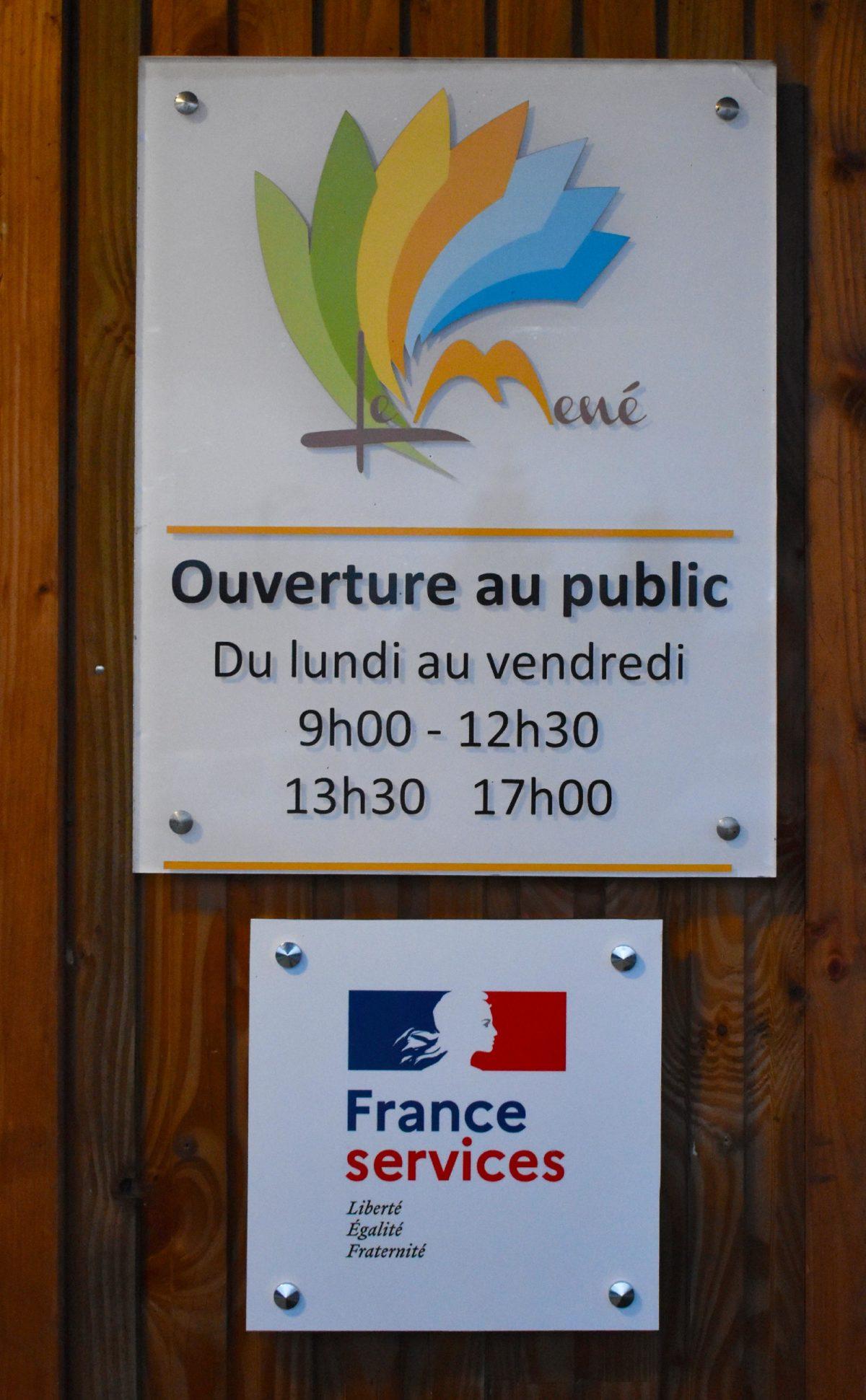 PORTES OUVERTES FRANCE SERVICES LE MENE DU 12 AU 16 OCTOBRE 2020
