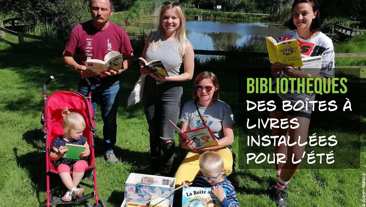 Des boîtes à livres installées pour l'été