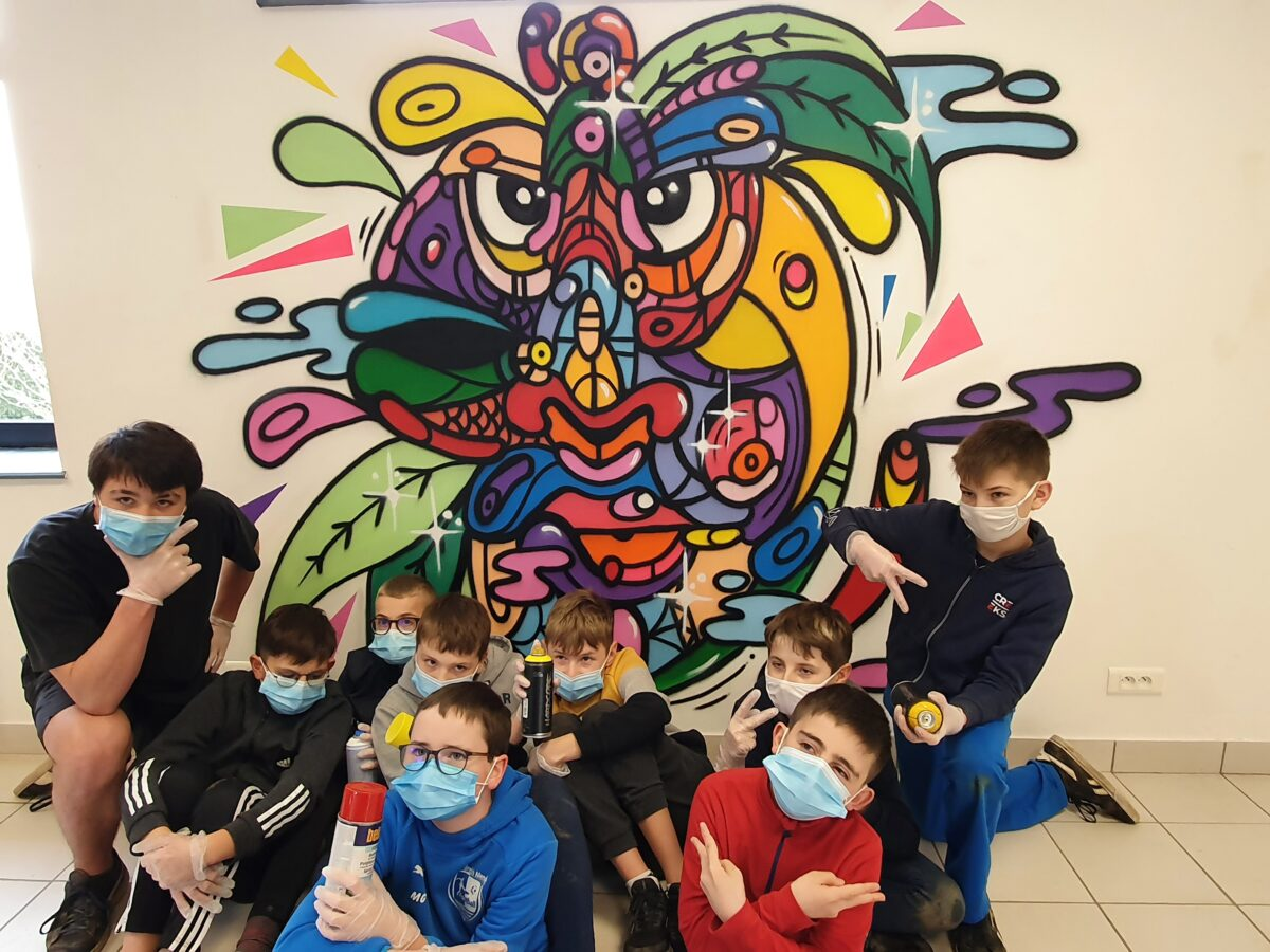 Les jeunes ont découvert le graffiti